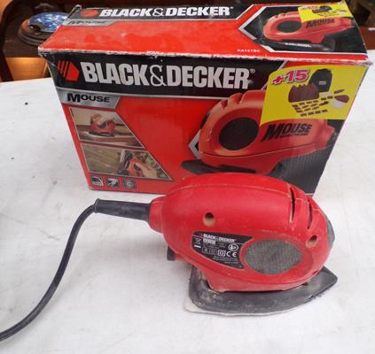 Black and Decker boxed mouse sander