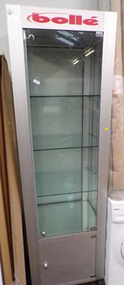Large metal & glass display cabinet