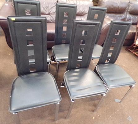 Set of 6 modern dining chairs