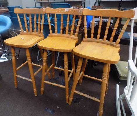 Three pine bar stools