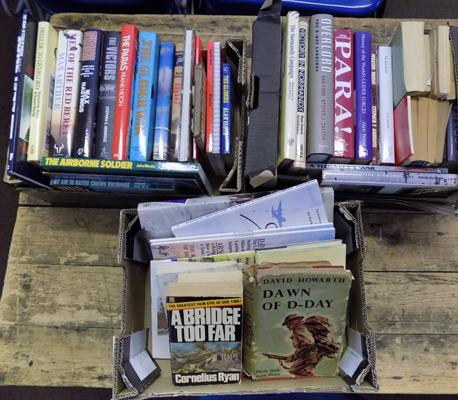 3x Boxes WWII books-Paras, gliders, D Day etc