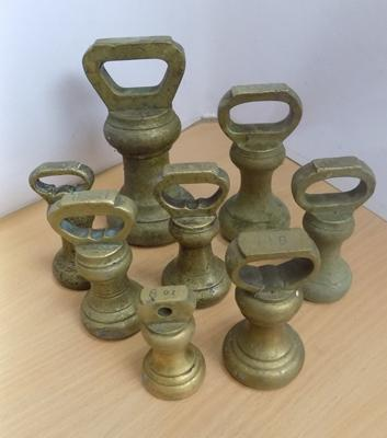 Vintage brass weights