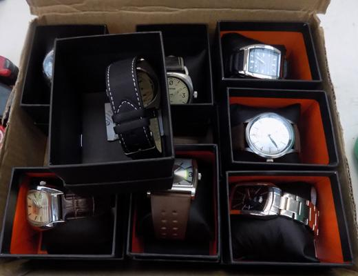 8 new shop display watches incl. Sherman, Firetrap (all working)