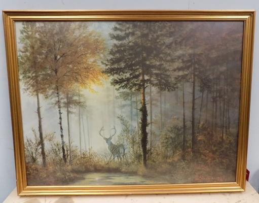 Large framed print of 'Quiet Forrest' picture