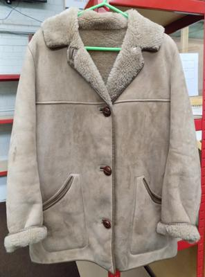 Ladies sheepskin/faux sheep skin coat size 16