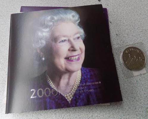 2006 £5 coin in original packaging
