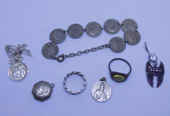 Selection of silver & white metal
