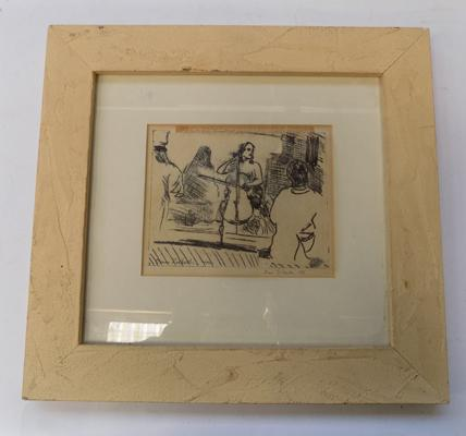 "Signed print by Diana Zwibach, 1988 - approx. 4"" x 5"" print"