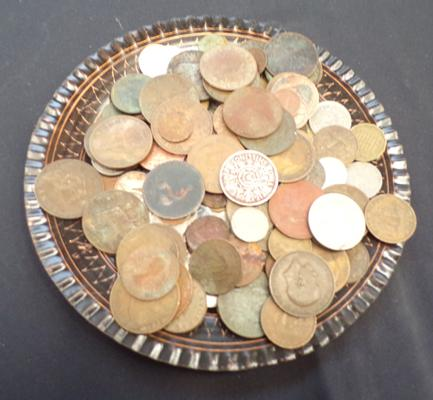 Tray of mixed coins