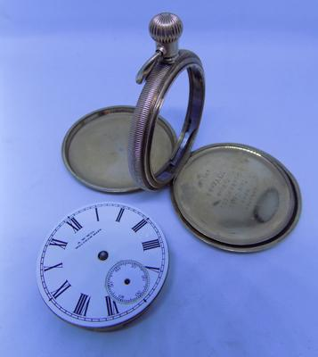 Full Hunter pocket watch case with Walthem works