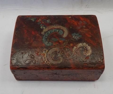 18th Century hand painted French jewellery box