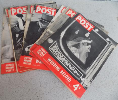 10x Picture post magazines from 1947