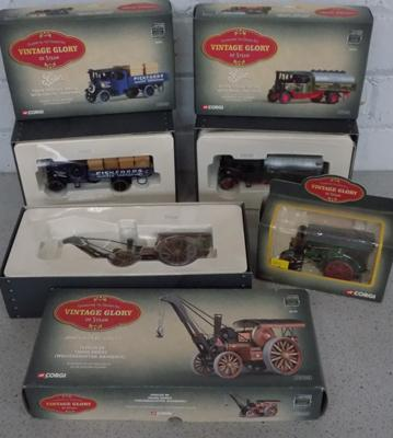 Selection of Corgi vintage 'Glory of Steam' items x 4
