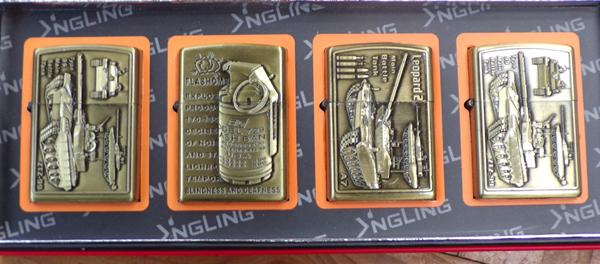 4 petrol lighters military designs