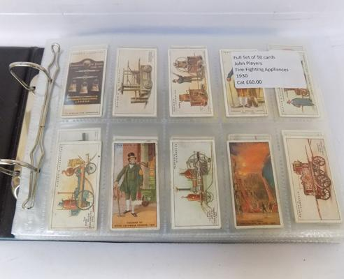 8 full sets of cigarette cards & others