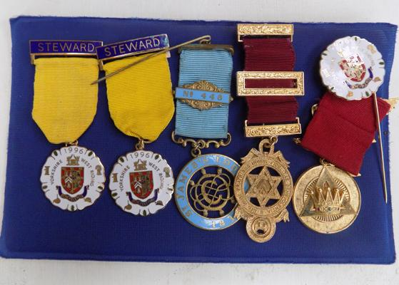 Selection of masonic medals