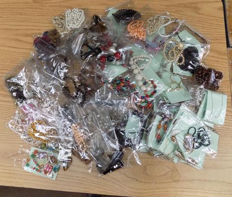 Large collection of costume jewellery - packaged for retail
