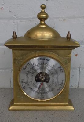 Brass mantle thermometer