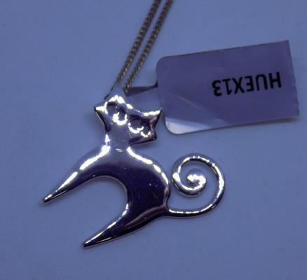 Sterling 925 silver cat necklace - new with tag