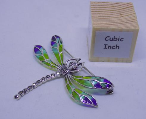 Silver and marcasite dragonfly brooch