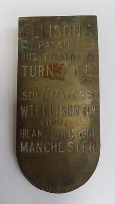 Original Manchester station sign - approx. 7""