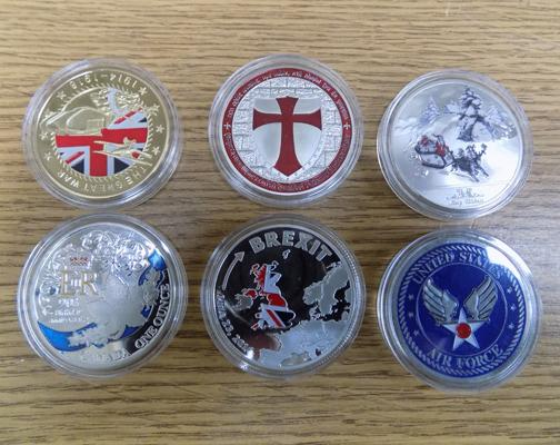 Six collectable coins