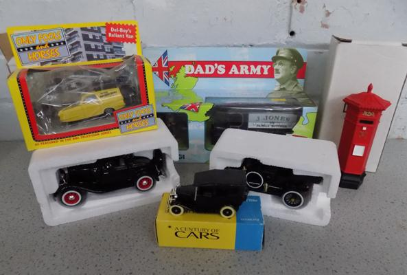 Selection of collectable diecast cars, incl. Only Fools & Horses & Dad's Army etc...