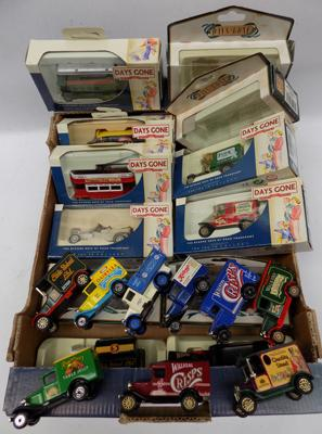 17 various Diecast car models incl. 'Days gone' - some boxed