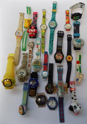 Selection of retro child watches and parts