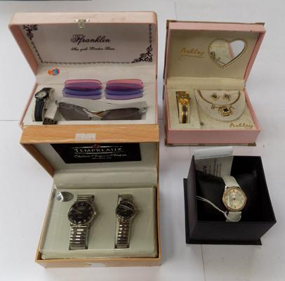 Selection of boxed watches and sets