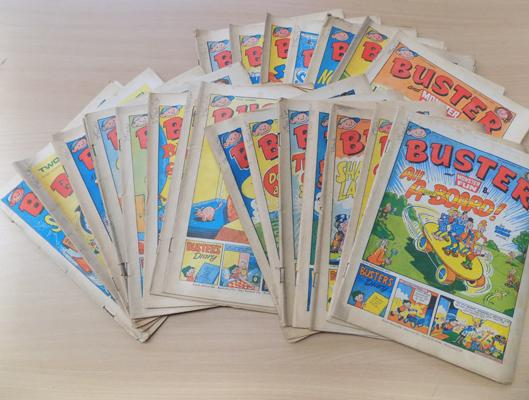 Collection of Buster comics