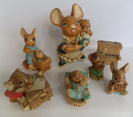 Collection of Pendelfin figures