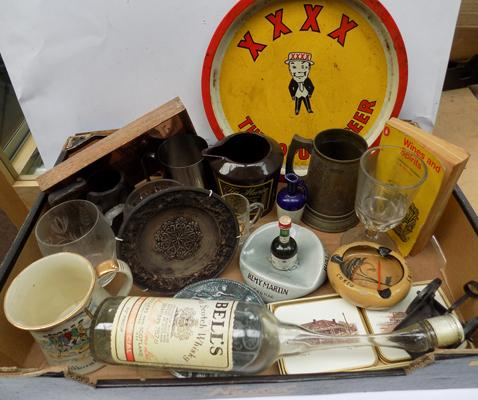 Large box of Brewariana and other mixed collectables