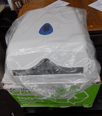 Paper towel dispenser and box of 2400 paper towels