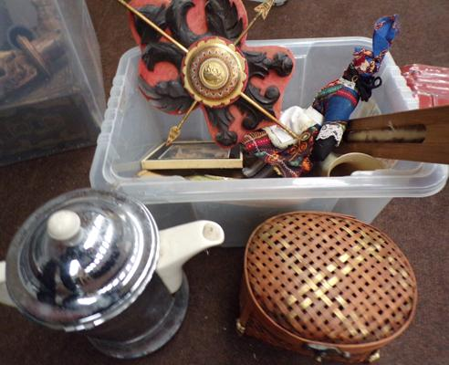 Box of good quality collectables incl. retro chrome kettle