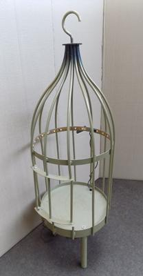 Bird cage with LED light
