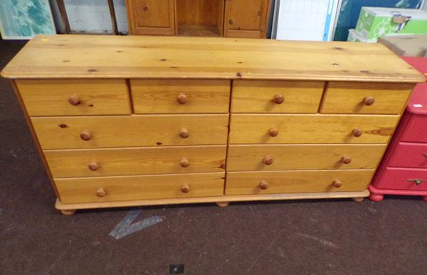 Four over six pine set of drawers
