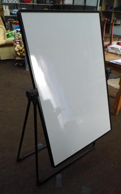 Bi-office white board, dual sided, one with clip board - board size 28 x 39 inches - all proceeds to the Alzheimers Society