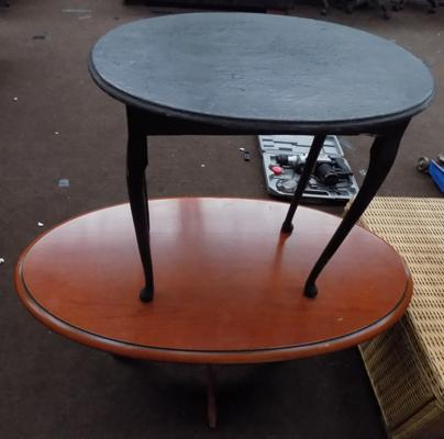 Two oval tables