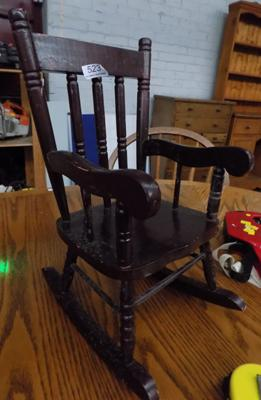 Miniature rocking chair, approx. 16 inches