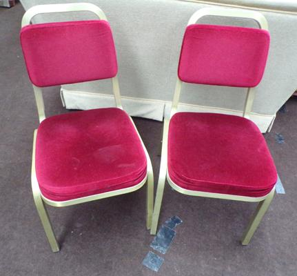 Two stackable conference chairs