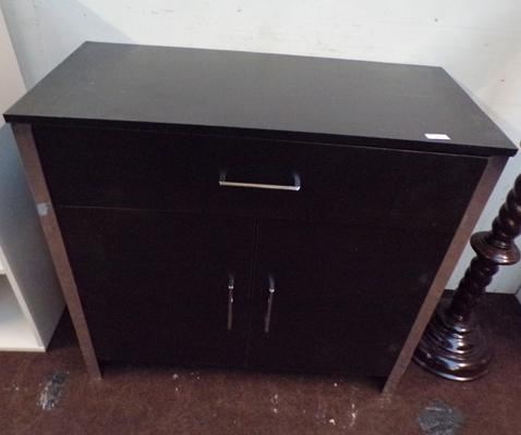 One door, two drawer small sideboard