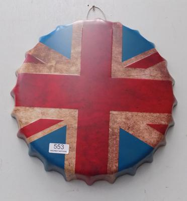 Tin plate Union Jack sign