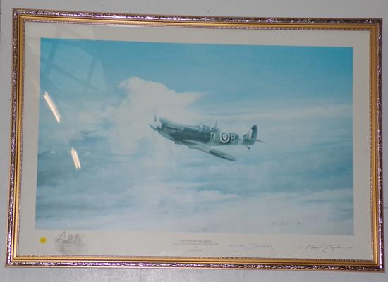 Framed print 'Reach for the Skies' signed by Bader & Taylor