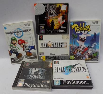 Selection of mixed games incl. PS1 and Nintendo Wii games