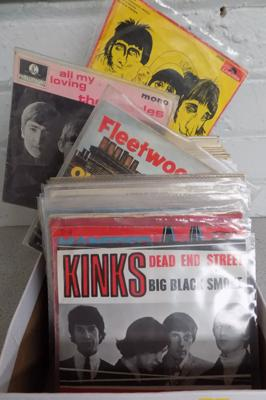 Collection of rare 1960's singles & EP's inc Kinks, Beatles, Stones, Who, Fleetwood Mac etc