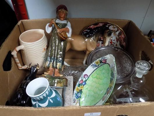 Box of collectables incl. Maling, Goebel etc...