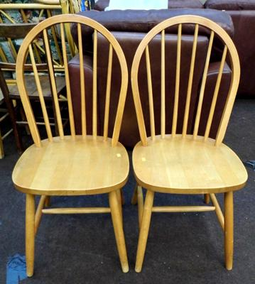 2x spindle back chairs