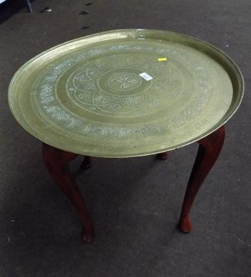 Brass top round Indian style table