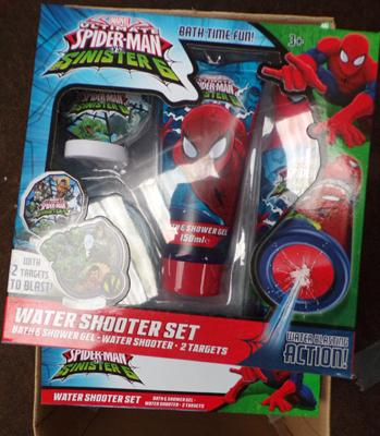 6x Spiderman water shooter sets